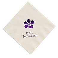 Personalized Napkins - DINNER (Hibiscus)