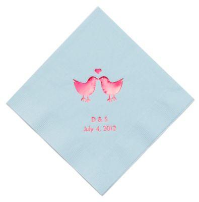 Personalized Napkins - DINNER (Lovebirds)