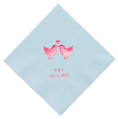 Personalized Napkins - DINNER (Lovebirds)
