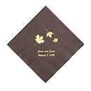 Personalized Napkins - DINNER (Maple Leaves)