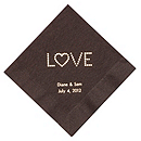 Personalized Napkins - DINNER (Love)