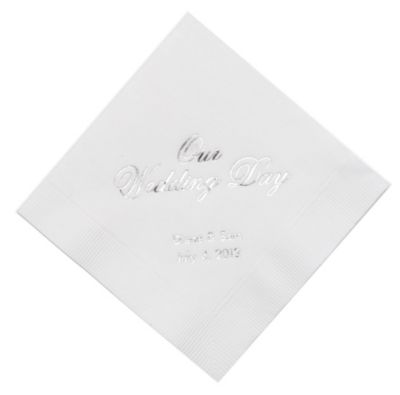 Personalized Napkins - DINNER (Our Wedding Day)
