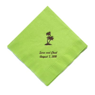 Personalized Napkins - DINNER (Palm Trees)