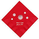 Personalized Napkins - DINNER (Snowflakes)