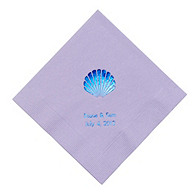 Personalized Napkins - DINNER (Seashell)
