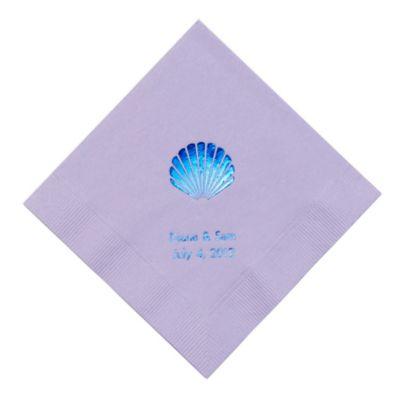 Personalized Napkins - DINNER (Seashell)
