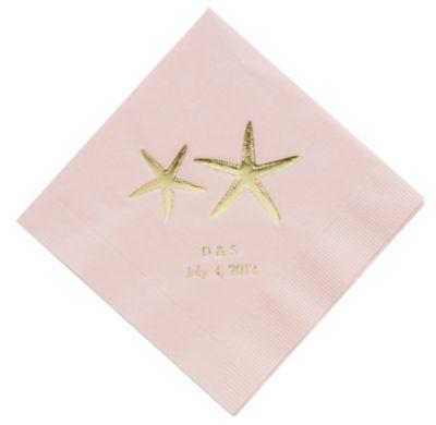 Personalized Napkins - DINNER (Starfish)