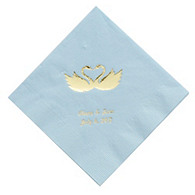 Personalized Napkins - DINNER (Swans)
