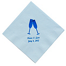 Personalized Napkins - DINNER (Toasting Flutes)