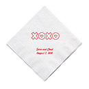 Personalized Napkins - DINNER (XOXO - Hugs and Kisses)