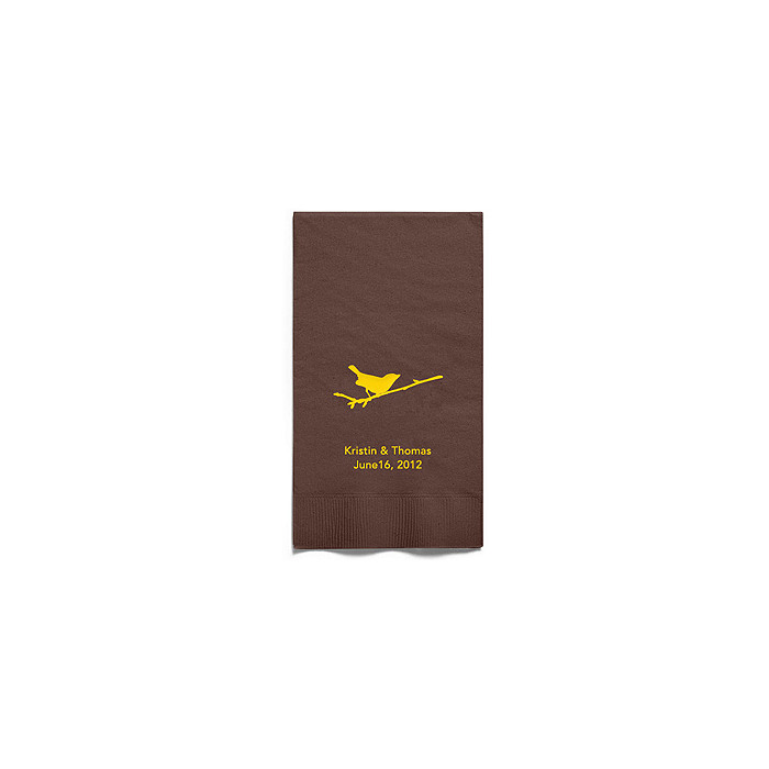 Personalized Napkins - GUEST TOWEL (Bird on Branch)
