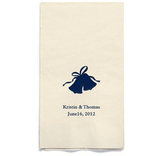 Personalized Napkins - GUEST TOWEL (Bells)