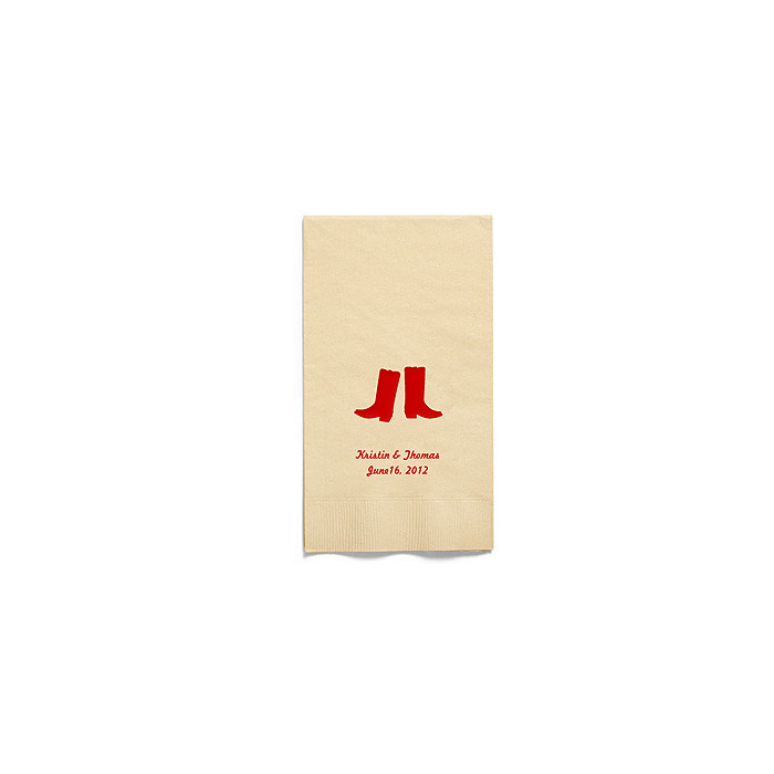 Personalized Napkins - GUEST TOWEL (Boots)