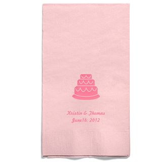 Personalized Napkins - GUEST TOWEL (Cake)