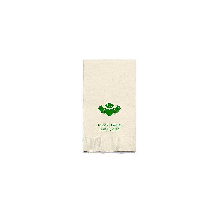 Personalized Napkins - GUEST TOWEL (Claddagh)