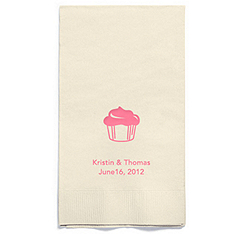 Personalized Napkins - GUEST TOWEL (Cupcake)