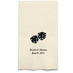 Personalized Napkins - GUEST TOWEL (Dice)