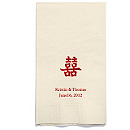 Personalized Napkins - GUEST TOWEL (Double Happiness)