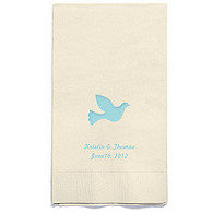 Personalized Napkins - GUEST TOWEL (Dove)