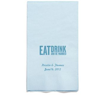 Personalized Napkins - GUEST TOWEL (Eat, Drink- Block)