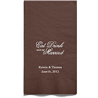 Personalized Napkins - GUEST TOWEL (Eat, Drink- Script)
