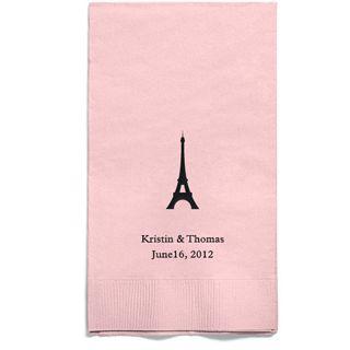 Personalized Napkins - GUEST TOWEL (Paris)