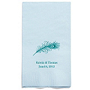 Personalized Napkins - GUEST TOWEL (Peacock Feather)