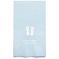 Personalized Napkins - GUEST TOWEL (Flip-flops)