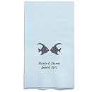 Personalized Napkins - GUEST TOWEL (Kissing Fish)