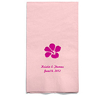 Personalized Napkins - GUEST TOWEL (Hibiscus)