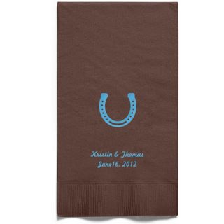 Personalized Napkins - GUEST TOWEL (Horseshoe)