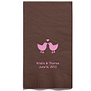 Personalized Napkins - GUEST TOWEL (Lovebirds)