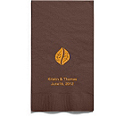 Personalized Napkins - GUEST TOWEL (Leaves)