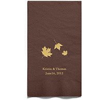 Personalized Napkins - GUEST TOWEL (Maple Leaves)