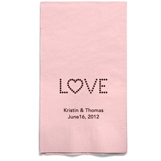 Personalized Napkins - GUEST TOWEL (Love)