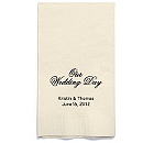 Personalized Napkins - GUEST TOWEL (Our Wedding Day)