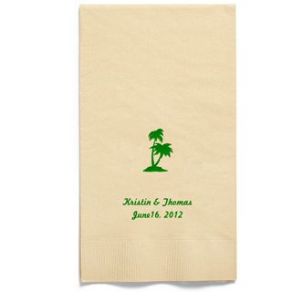 Personalized Napkins - GUEST TOWEL (Palm Trees)