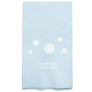 Personalized Napkins - GUEST TOWEL (Snowflakes)