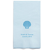 Personalized Napkins - GUEST TOWEL (Seashell)