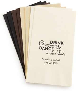 Personalized Quotable Napkins - Guest Towel