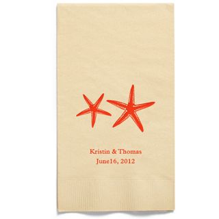 Personalized Napkins - GUEST TOWEL (Starfish)