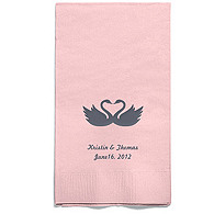 Personalized Napkins - GUEST TOWEL (Swans)