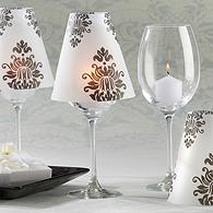 Damask Vellum Candle Shades