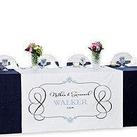 Personalized Reception Table Banner - Timeless