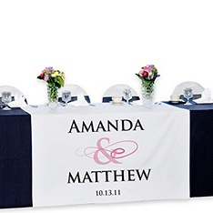Personalized Reception Table Banner - Flourish
