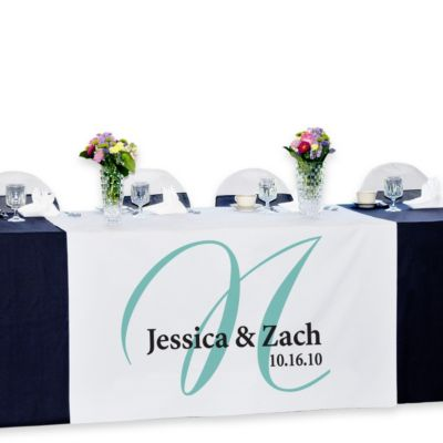 Personalized Reception Table Banner - Elegance