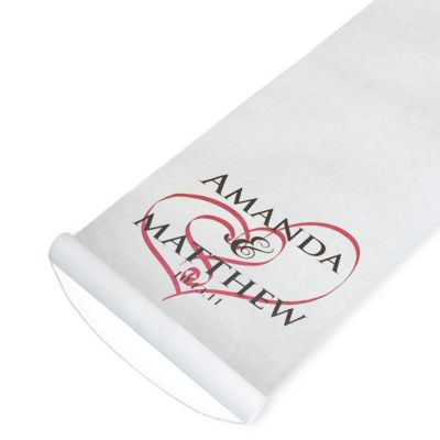 Personalized Aisle Runner - Embracing Hearts