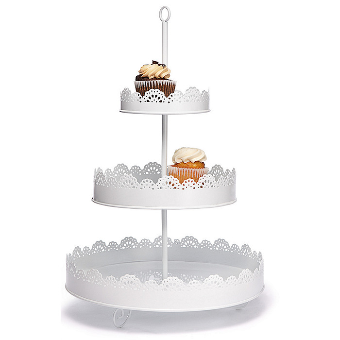 Porcelain Decorative Three Tier Cake Stand