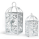 Metal Table Lantern - White