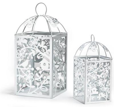 Metal Table Lantern - White